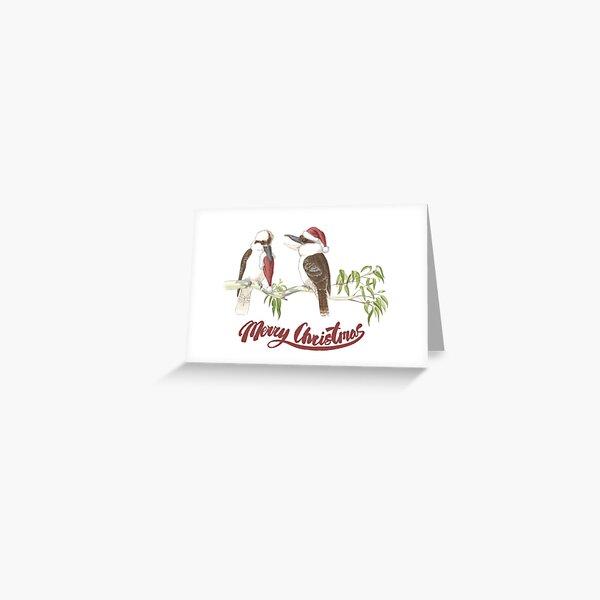 Merry Kookaburras Greeting Card