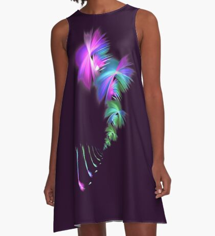 Fly away #fractal A-Line Dress