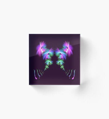 Fly away #fractal Acrylic Block