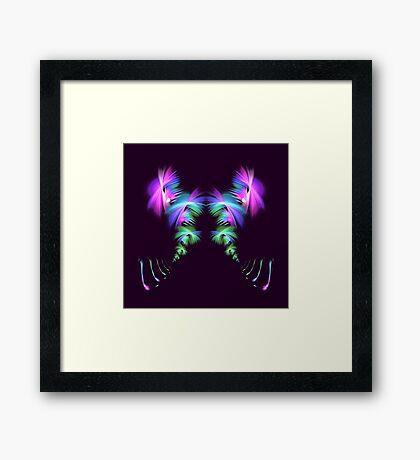 Fly away #fractal Framed Print