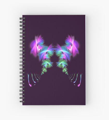 Fly away #fractal Spiral Notebook