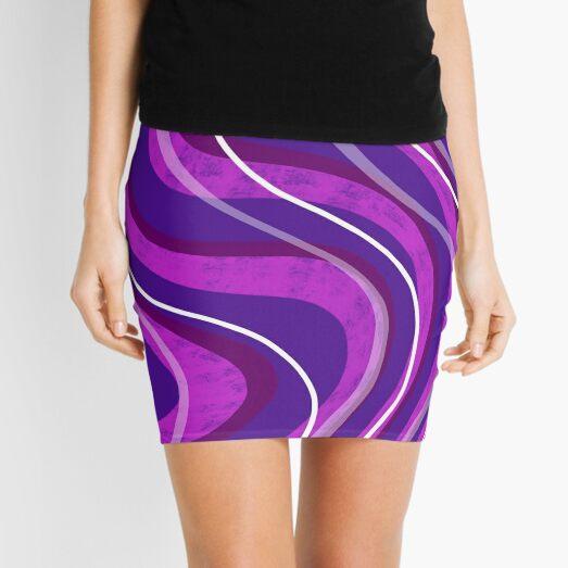 Swirly Pinks n Purples Mini Skirt