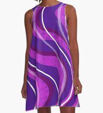 Swirly Pinks n Purples A-Line Dress