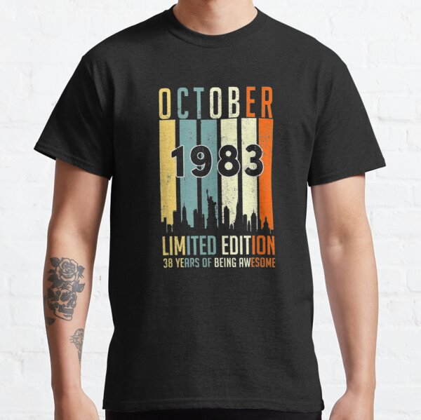 Vintage October 1983 Limited Edition 38th Bday 38 Years  Classic T-Shirt