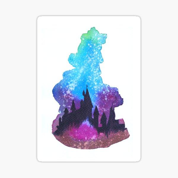 Castle burn Sticker