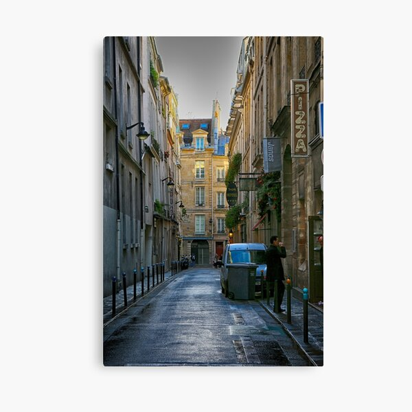 Waiting for his pizza Canvas Print