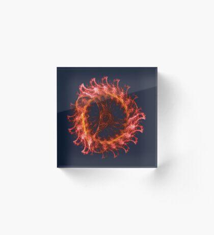 I am the Fire! #fractal Acrylic Block