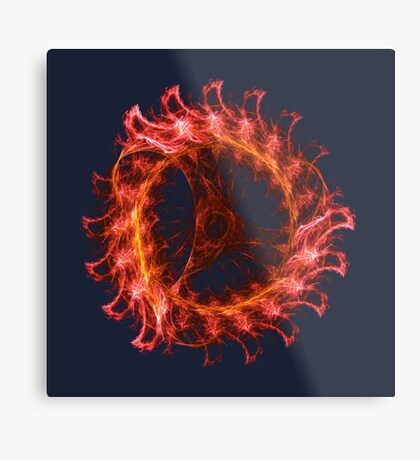 I am the Fire! #fractal Metal Print