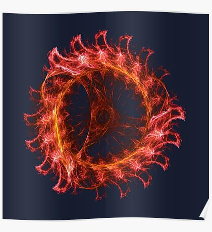 I am the Fire! #fractal Poster