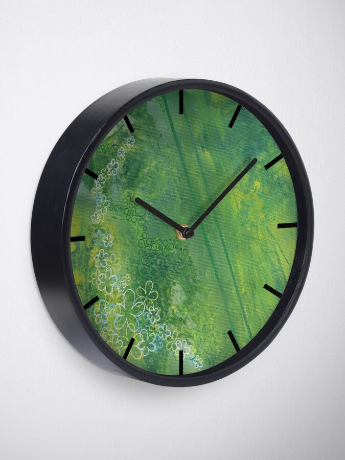 Alternate view of It's Not Easy Being Green Clock