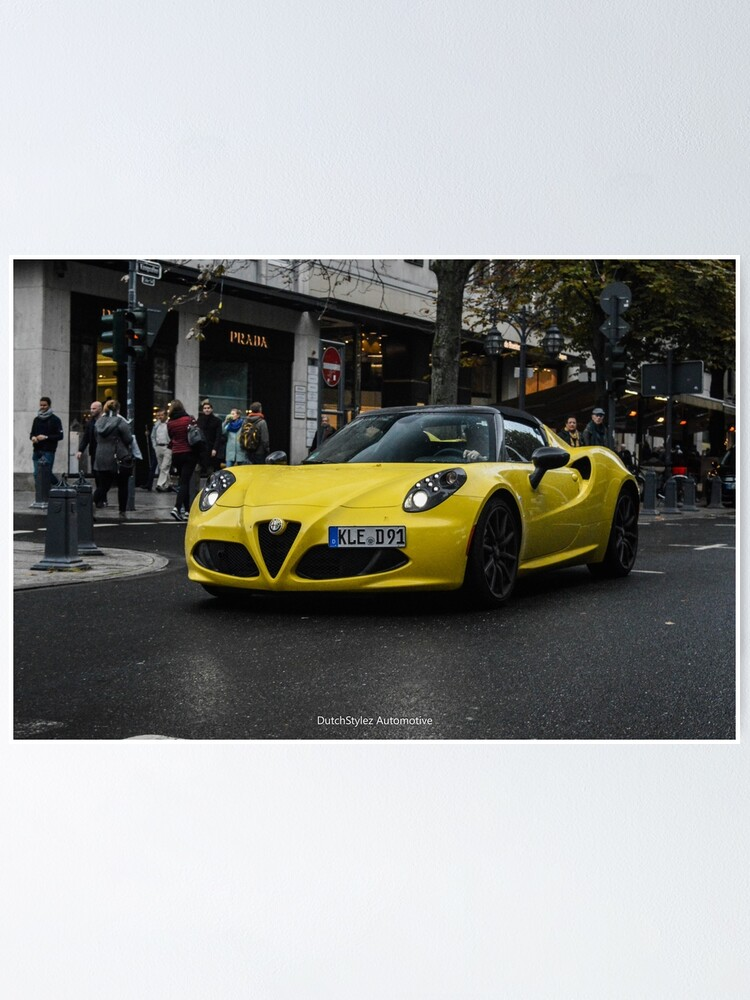 Alternate view of Alfa Romeo 4c Spider Poster