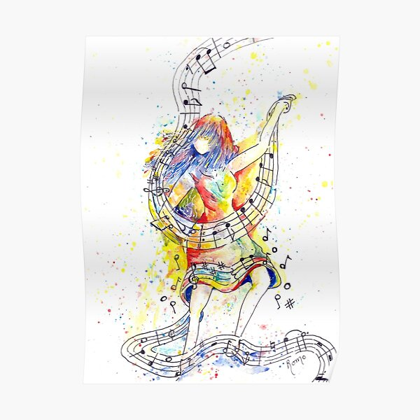 Dancing to the Music of Her Soul - Painted Poster