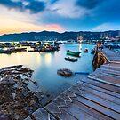 Sunset at wooden bridge by kawing921