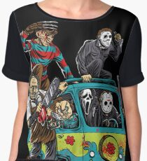 The Massacre Machine Horror Women's Chiffon Top