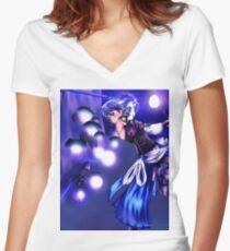 Aqua Legend Women's Fitted V-Neck T-Shirt