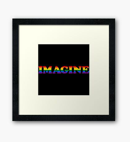 IMAGINE Framed Print