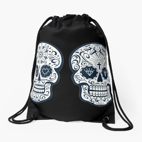Mexican skull with patterns  Drawstring Bag