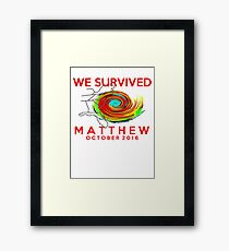 we survived hurricane matthew Framed Print