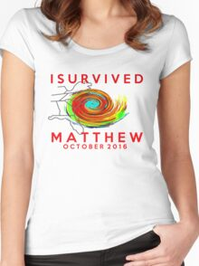 I survived hurricane matthew Women's Fitted Scoop T-Shirt