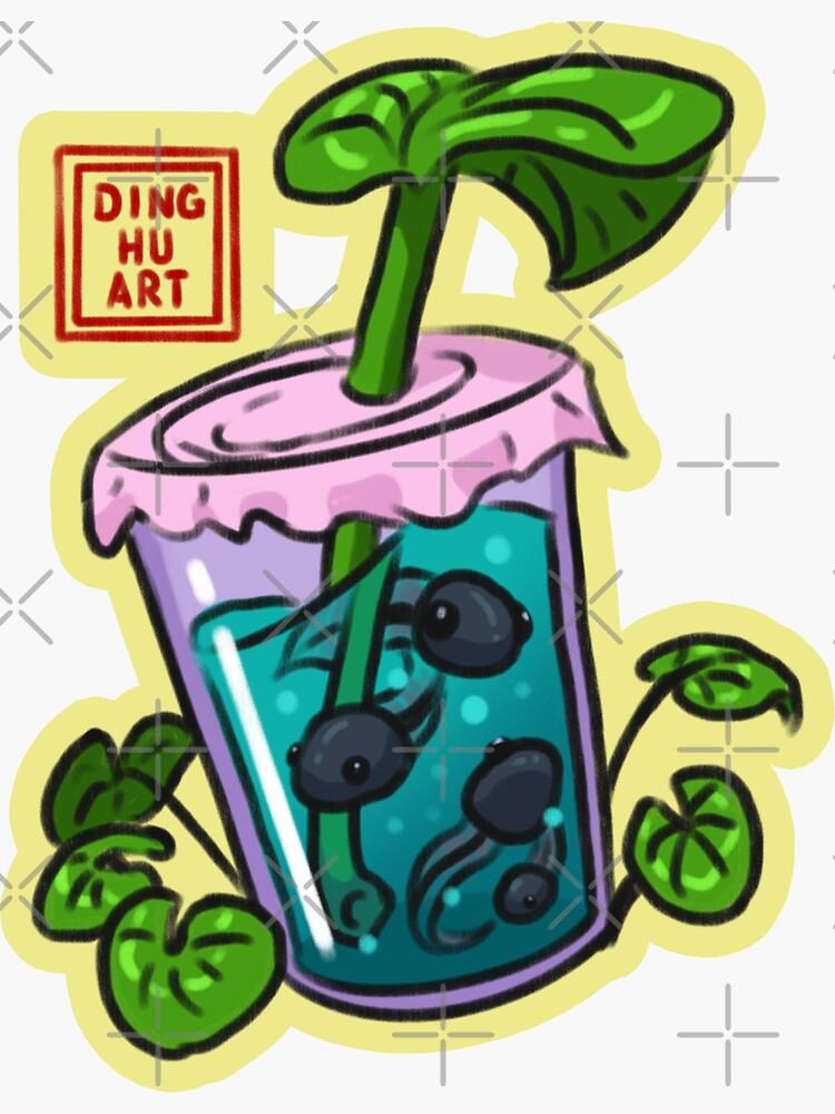 Boba Tea Tadpole by DingHuArt