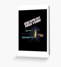 ESCAPE FROM NEW YORK - ISLAND MAP (1) Greeting Card