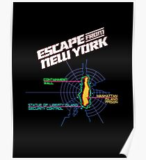 ESCAPE FROM NEW YORK - ISLAND MAP (1) Poster
