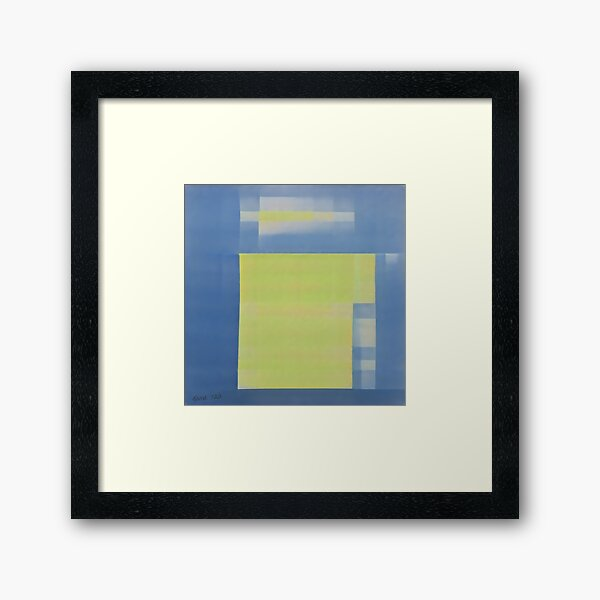 Bed Sheets Drying on a Windy Summer Day Framed Art Print