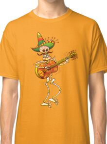Mexican Skeleton Playing Guitar Classic T-Shirt