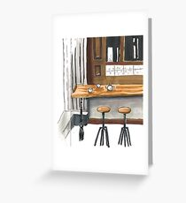 Little cafe Greeting Card