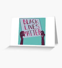 Tarjeta de felicitación Las vidas negras importan