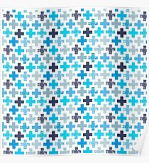 Patchy Crosses Poster