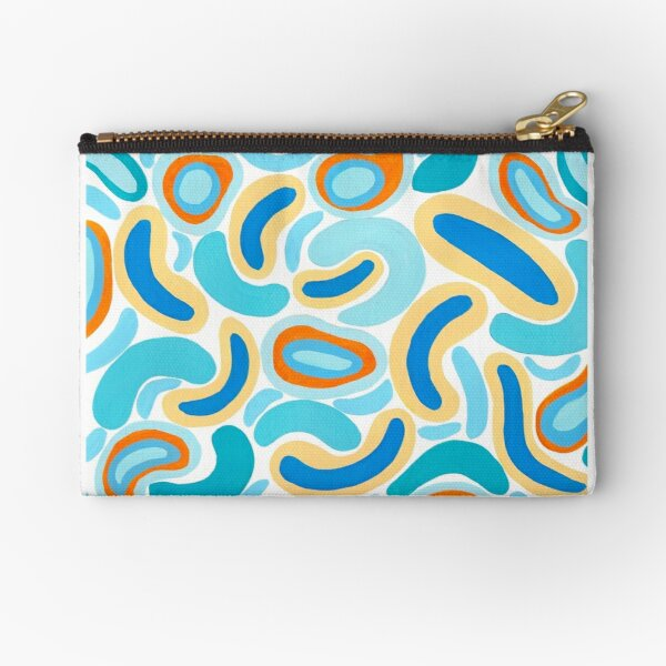 Bold and bright with a touch of the 80's Zipper Pouch