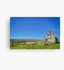 Moines Cottage, Tongue, Sutherland. Canvas Print