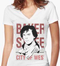 sherlock #2 Women's Fitted V-Neck T-Shirt