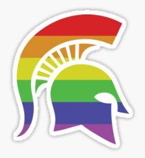 LGBTQIA+ Spartan Helemet Sticker