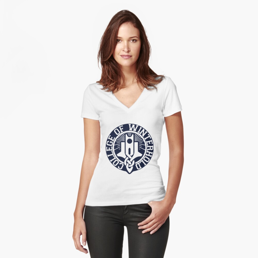 College of Winterhold Fitted V-Neck T-Shirt