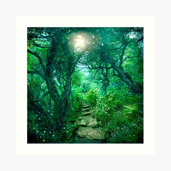 The Secret Path (redone 2016) Art Print