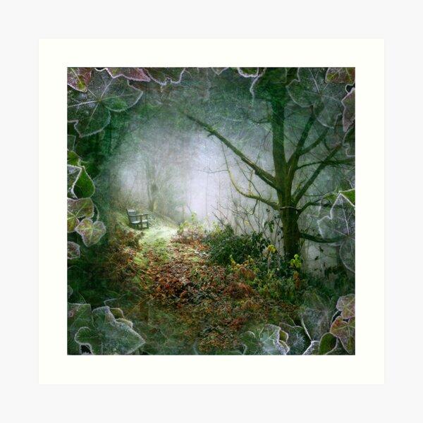 A Winter's Walk (square crop) Art Print