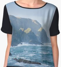 Cliffs at Port, Glencolmcille Women's Chiffon Top