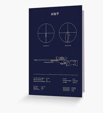 CSGO AWP Blueprint Greeting Card