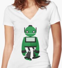 Robot Character #85 Women's Fitted V-Neck T-Shirt