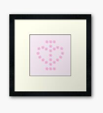 I Love Flowers Framed Print
