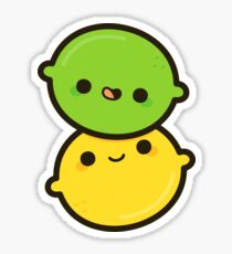 Happy lemon and lime Sticker