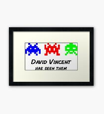 David Vincent has seen them parody Invaders Framed Print