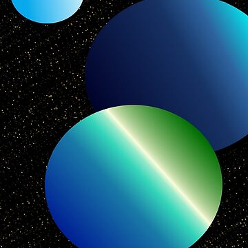 Three blue planets by Scifiguy9000