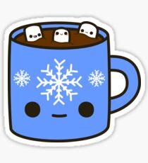 Mug of hot chocolate with cute marshmallows Sticker