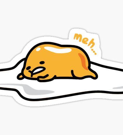 Gudetama the lazy egg laying Sticker