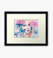 Pink Constellation Framed Print