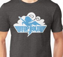 Top Bolt Logo White Cloud Background Unisex T-Shirt