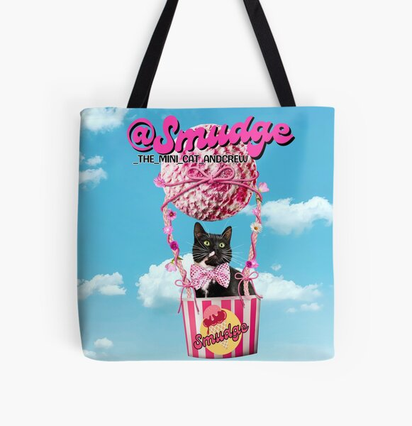 Smudge In A Hot Air Ice Cream Balloon All Over Print Tote Bag